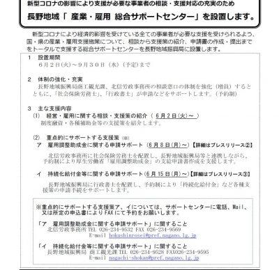 長野県からのお知らせ
