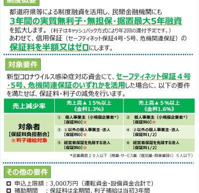 長野県中小企業融資制度(長野県新型コロナウイルス感染症対応資金)が新設されました