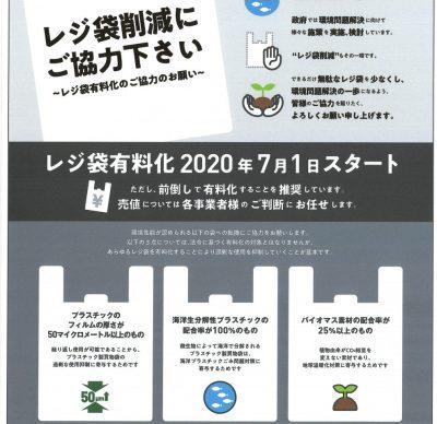 レジ袋有料化が2020年7月1日からスタートします
